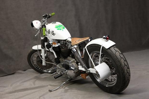 Мотоцикл Village Dream мастерской New Old Shit, участвовавший в выставке «Мотопарк». Изображение № 15.