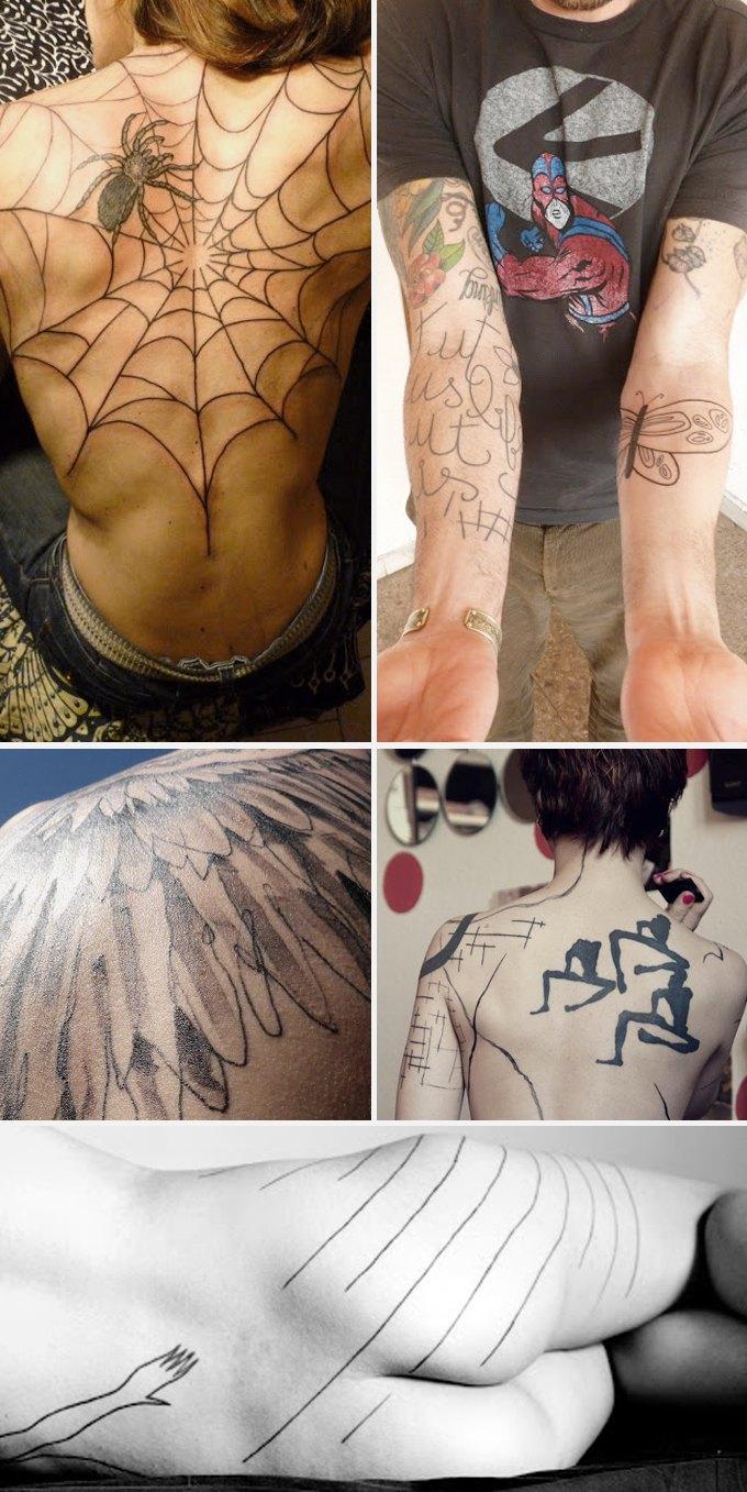 Путеводитель по самому спорному и одновременно художественному жанру татуировок — ар-брюту. Изображение № 18.