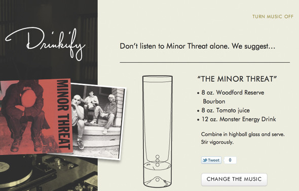 Сервис Drinkify поможет подобрать выпивку под любимую музыку. Изображение № 8.