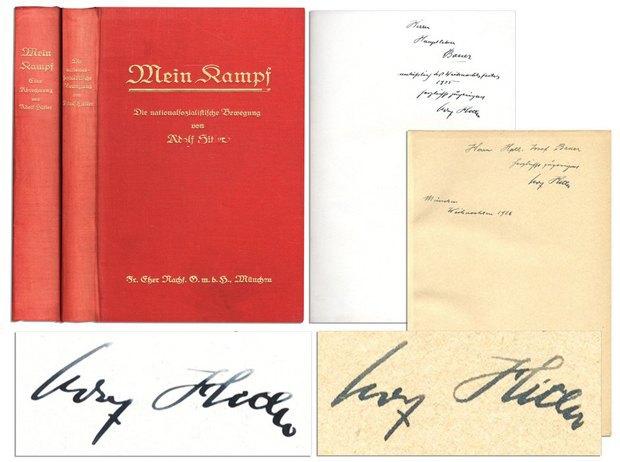 Mein Kampf с автографом Гитлера продали за 65 тысяч долларов . Изображение № 1.
