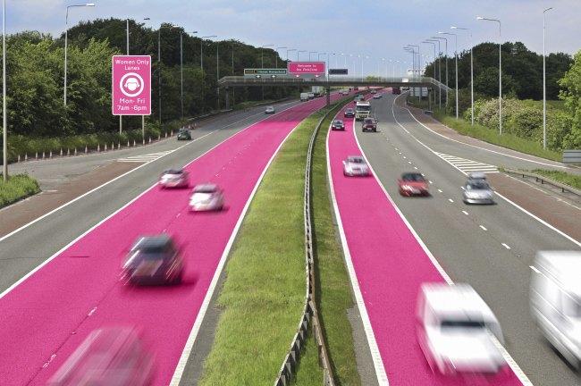 Сексизм дня: В Англии предложили выделить полосы для женщин за рулём. Изображение № 3.