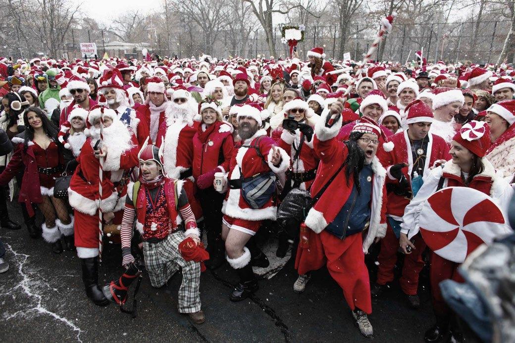 Плохие Санты: Фотохроника самого безумного рождественского флешмоба. Изображение № 1.