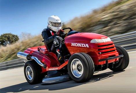 Honda собрала газонокосилку, разгоняющуюся до 188 км/ч. Изображение № 1.