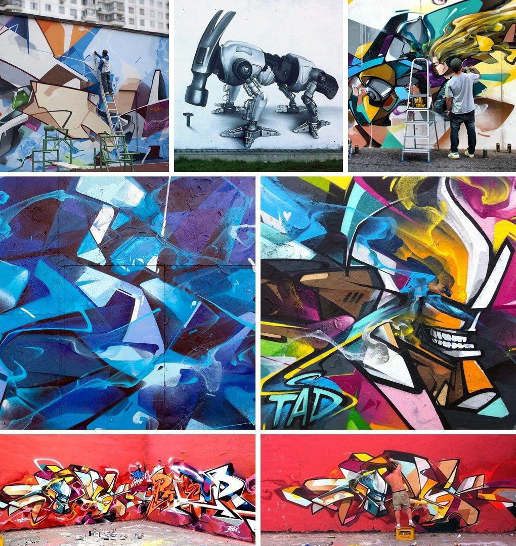 Что публикуют в своих Instagram российские граффити-художники. Часть первая. Изображение № 4.