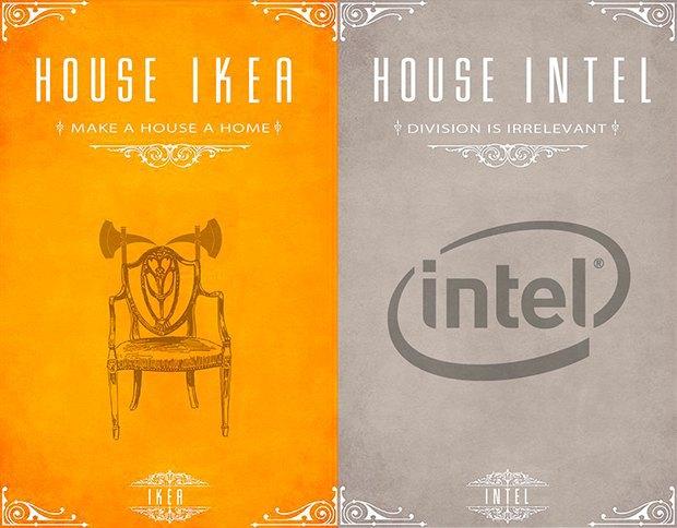 Как выглядели бы логотипы брендов в мире «Игры престолов». Изображение № 1.