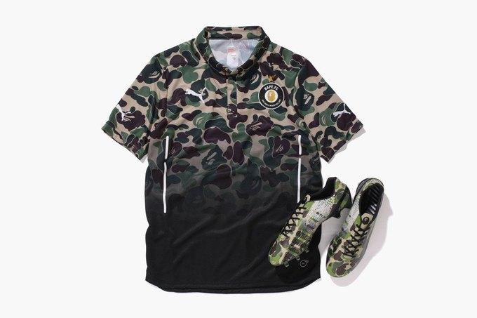 Марка Bape и бренд Puma представили капсульную коллекцию Bape FC. Изображение № 1.