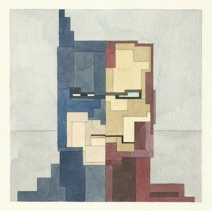 Адам Листер: Иконы поп-культуры в 8-битной живописи. Изображение № 1.