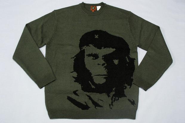 Известные работы марки SSUR:обезьяна Корнелиус в образе Че Гевары. Изображение № 1.