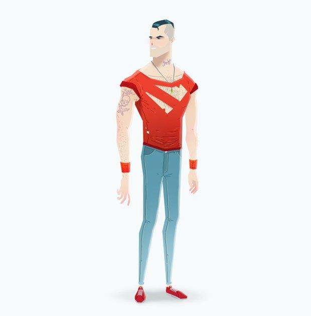 Super Rockers: Супергерои в образах рокеров. Изображение № 10.