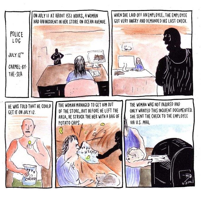 Police Log Comics: Абсурдные полицейские сводки в формате комиксов. Изображение № 10.