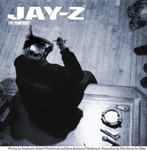 Художница поместила котов на обложки культовых рэп-альбомов. Изображение № 2.