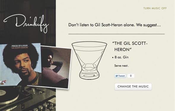 Сервис Drinkify поможет подобрать выпивку под любимую музыку. Изображение № 4.
