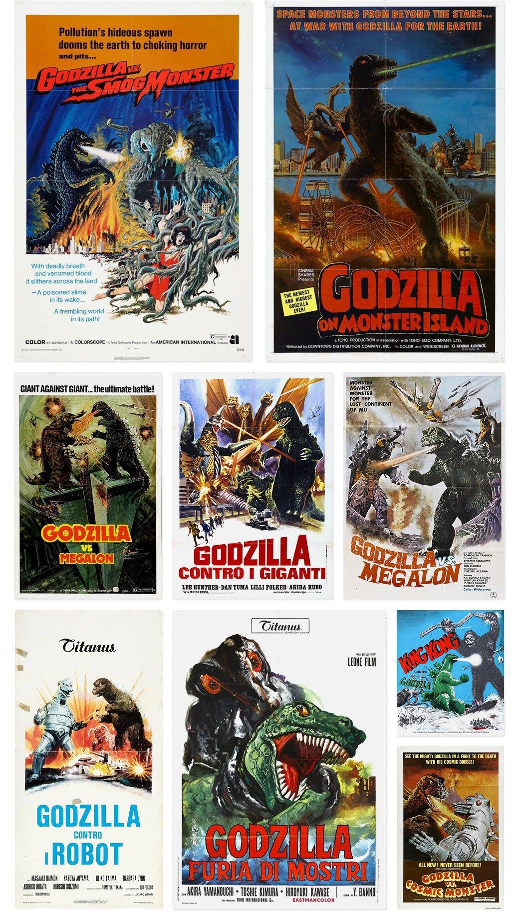 50 плакатов к фильмам о Годзилле. Изображение № 4.