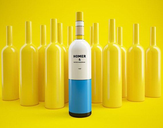 Художники из России посвятили дизайн винных бутылок «Симпсонам». Изображение № 1.