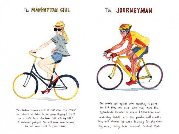 Художник-иллюстратор классифицировал нью-йоркских велосипедистов. Изображение № 4.
