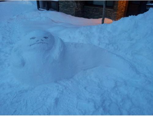 Что ты лепишь: Альтернативные снеговики со всего мира. Изображение №3.