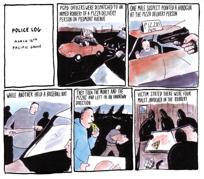 Police Log Comics: Абсурдные полицейские сводки в формате комиксов. Изображение № 19.