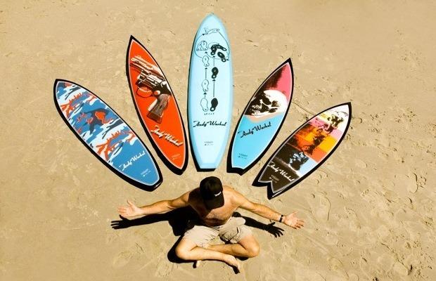 Марка Bessell выпустила доски для серфинга с картинами Энди Уорхола. Изображение №1.