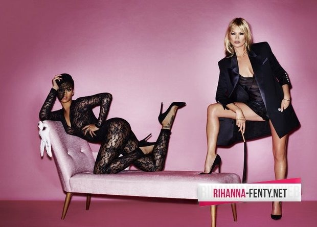 Рианна и Кейт Мосс снялись для американского журнала V Magazine. Изображение № 1.