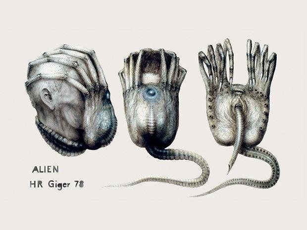 Вышла книга с ранее не опубликованными черновиками Гигера. Изображение № 1.