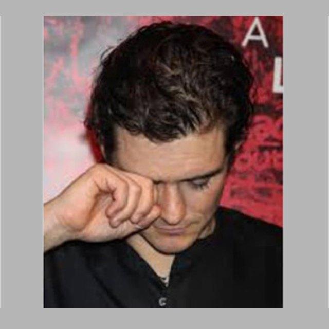 Бибер продемонстрировал фото плачущего Орландо Блума. Изображение № 1.