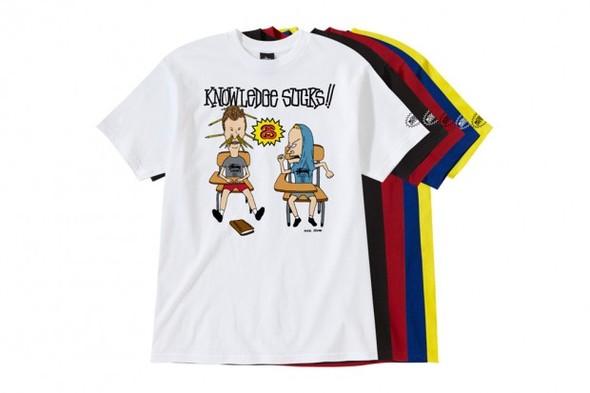 Новая коллекция футболок Stussy c Бивисом и Баттхедом. Изображение № 1.