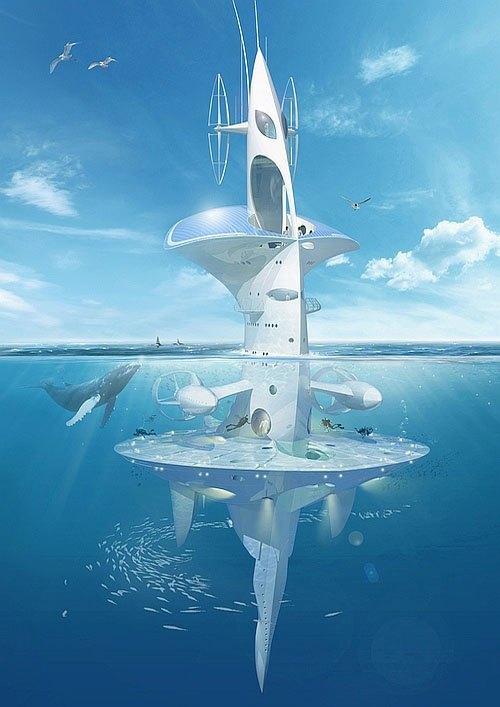 Французский исследователь собрал деньги на 60-метровую футуристичную плавучую платформу. Изображение № 2.