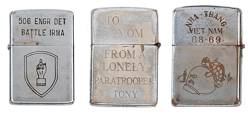 Фотографии коллекции зажигалок Zippo времен войны во Вьетнаме. Изображение №6.
