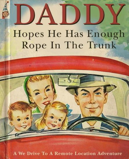 Иллюстратор Боб Стэйк создал пародии на обложки старых детских книжек   . Изображение № 7.