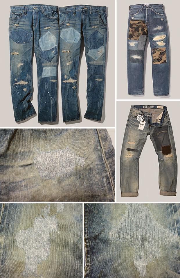 Кастет, краска и вышитые инициалы: Как кастомизировать любимую пару джинсов. Изображение № 19.