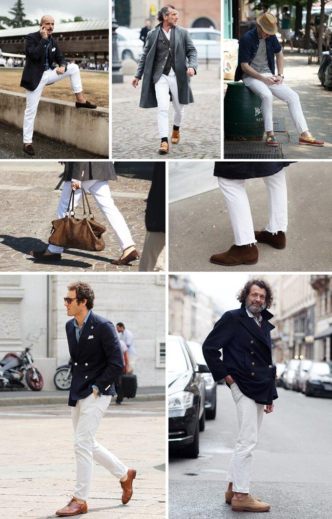 Как носить белые брюки и джинсы. Изображение № 1.