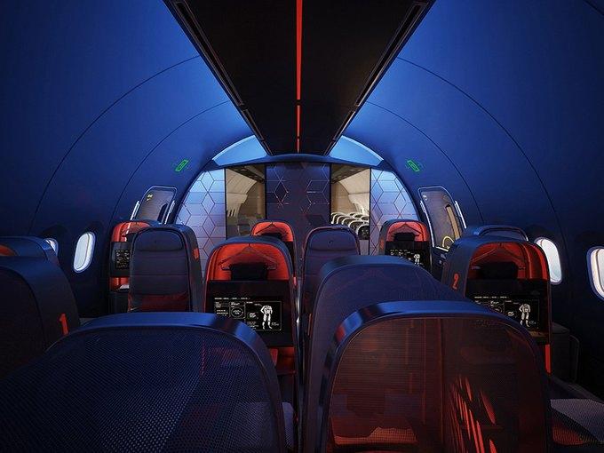 Nike представила супертехнологичный самолёт для своих спортсменов. Изображение № 1.