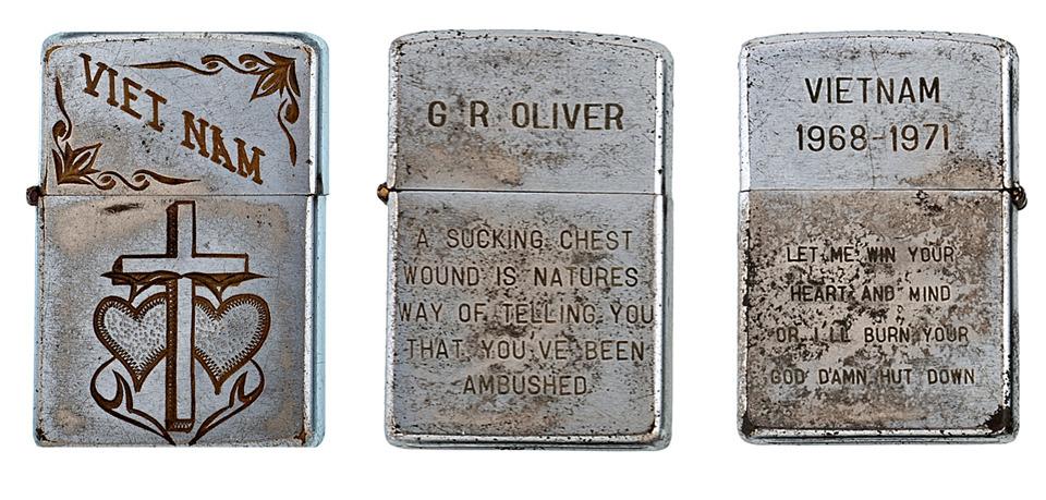 Фотографии коллекции зажигалок Zippo времен войны во Вьетнаме. Изображение №7.