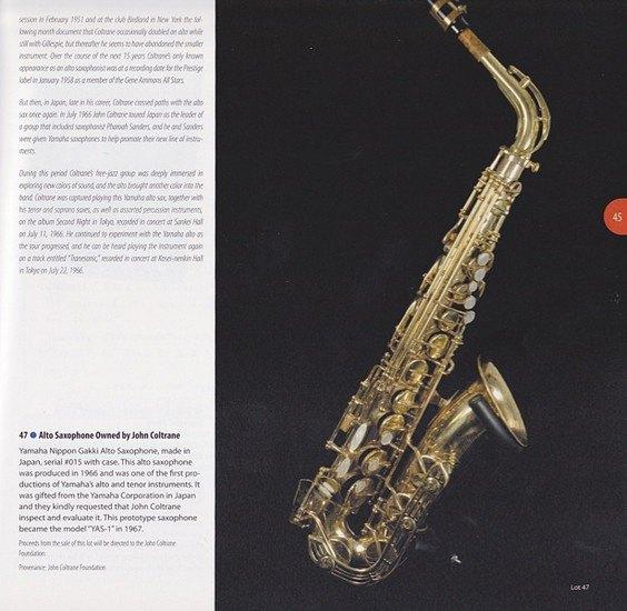 Саксофон Джона Колтрейна выставлен на интернет-аукцион eBay. Изображение № 7.