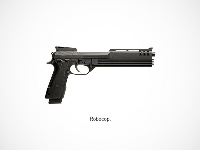 Итальянский дизайнер представил коллекцию плакатов знаменитого оружия. Изображение № 3.