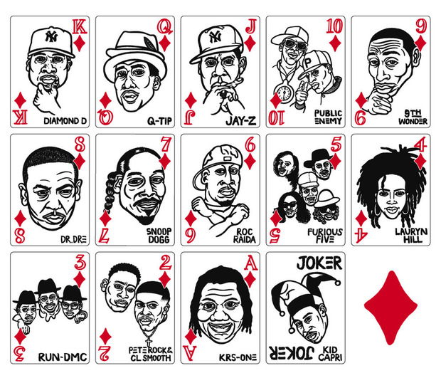 В Японии выпустили игральные карты с хип-хоп-музыкантами. Изображение № 3.