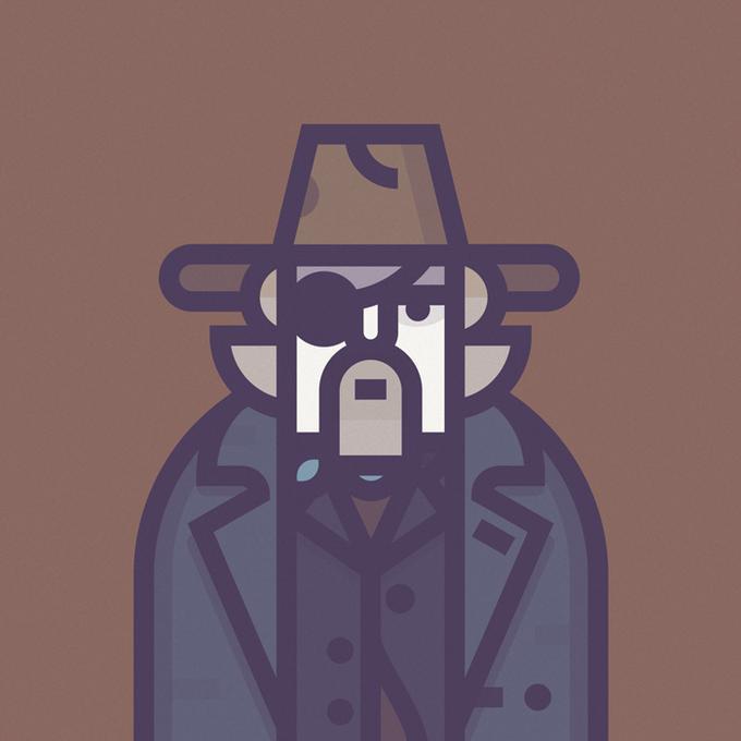 Coen Cast: Персонажи фильмов братьев Коэн в иллюстрациях дизайнера Ричарда Переса. Изображение № 10.