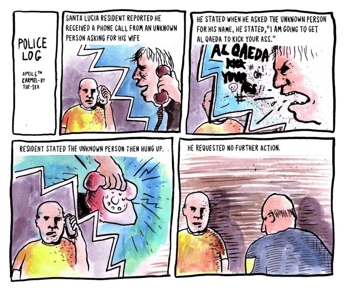 Police Log Comics: Абсурдные полицейские сводки в формате комиксов. Изображение № 4.