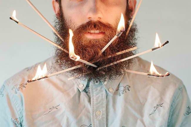 Американец научил свою бороду держать предметы. Изображение № 1.