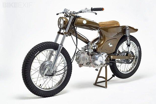 Мастерская Super Motor Company собрала новый мотоцикл на базе Honda Super Cub. Изображение № 2.