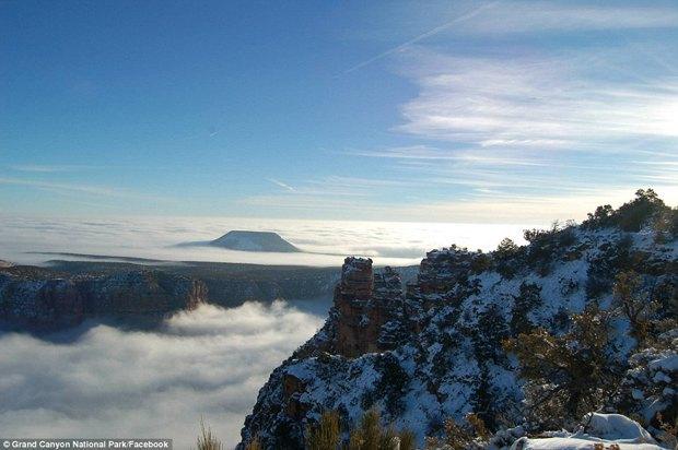 В Большом каньоне впервые за 10 лет появился туман. Изображение № 7.