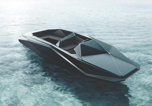 Заха Хадид создала быстроходный асимметричный катер в стиле истребителя «Стелс». Изображение № 1.