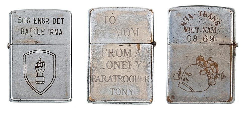 Фотографии коллекции зажигалок Zippo времен войны во Вьетнаме. Изображение № 6.