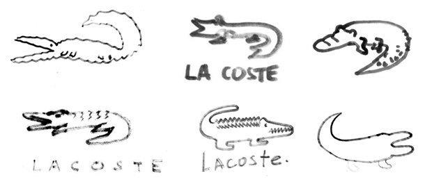 Дизайнеры Look At Media рисуют логотипы марок одежды по памяти. Изображение № 2.