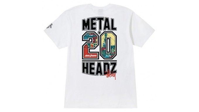 Марка Stussy поздравила лейбл Metalheadz с 20-летием выпуском футболок. Изображение № 5.
