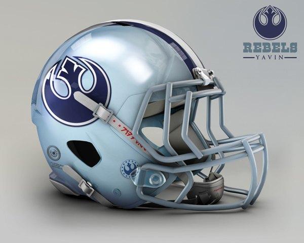 Мексиканец создал коллекцию футбольных шлемов, посвящённую «Звёздным войнам». Изображение № 1.