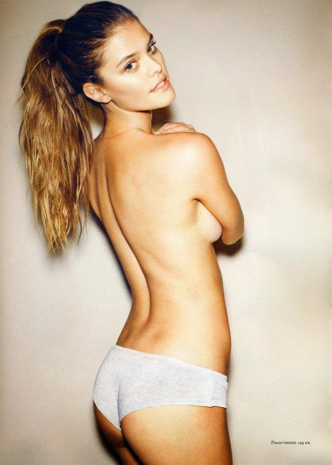 Датская модель Нина Агдал снялась для журнала Cover Man. Изображение № 1.