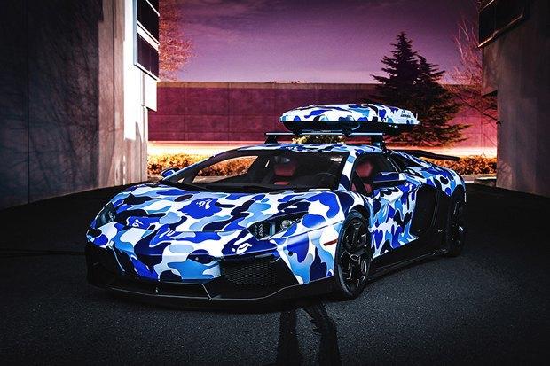 Марка Bape и компания Lamborghini представили совместную модель автомобиля Aventador. Изображение № 1.