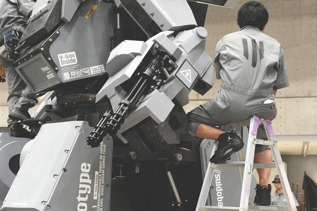 В Японии произвели четырехметрового боевого робота. Изображение № 6.