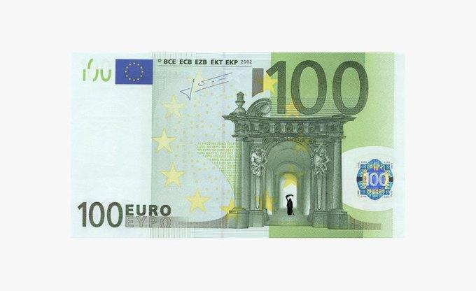 Художник «портит» банкноты евро в знак протеста. Изображение № 3.